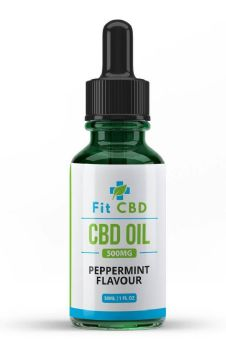 Fit CBD Tincture Oil 500mg CBD Peppermint 30ml